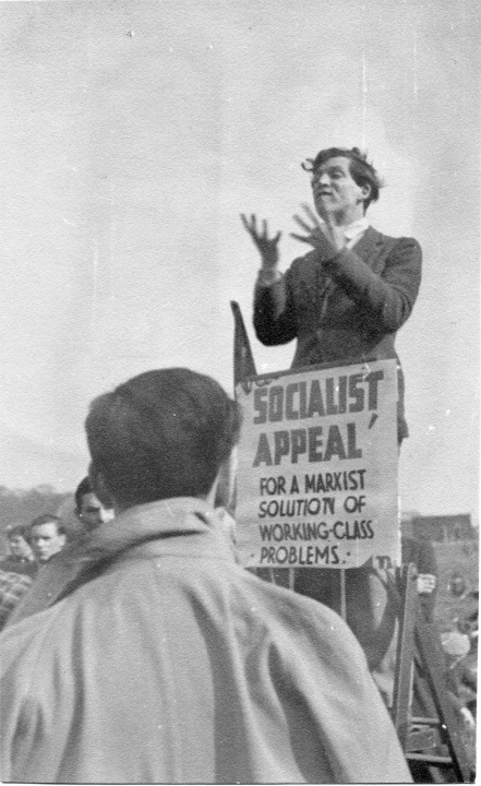 Ted Grant vid Speakers' Corner, 1942 / Foto: Ted Grant Archive