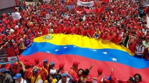Chavista demonstration 19 april. Foto: Telesur
