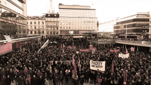 Antifascistisk demonstration i Stockholm. Foto: Valdar Malmsten