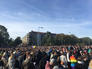 Anti-fascistisk demo i Göteborg 30/9 2017. Foto: Ylva Vinberg/Revolution